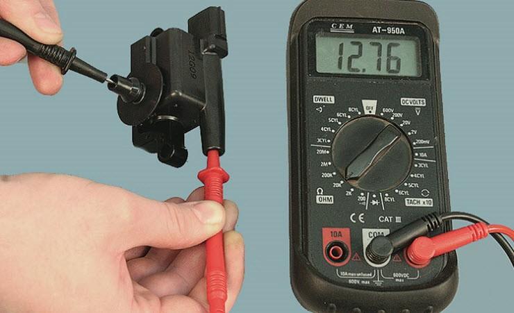 как проверить катушку зажигания змз 406 мультиметром
