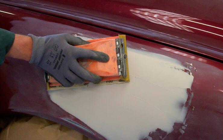 Шпаклевание авто для покраски