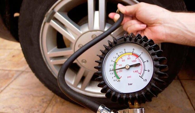 колебания давления в шинах