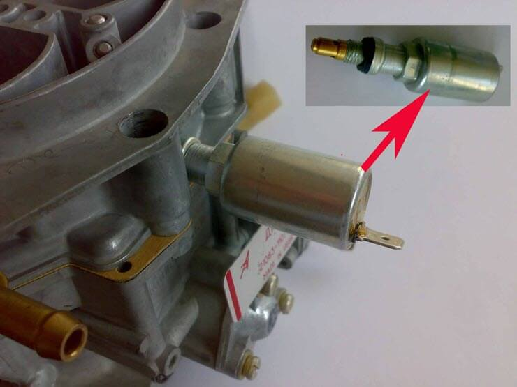 Электромагнитный клапан карбюратора