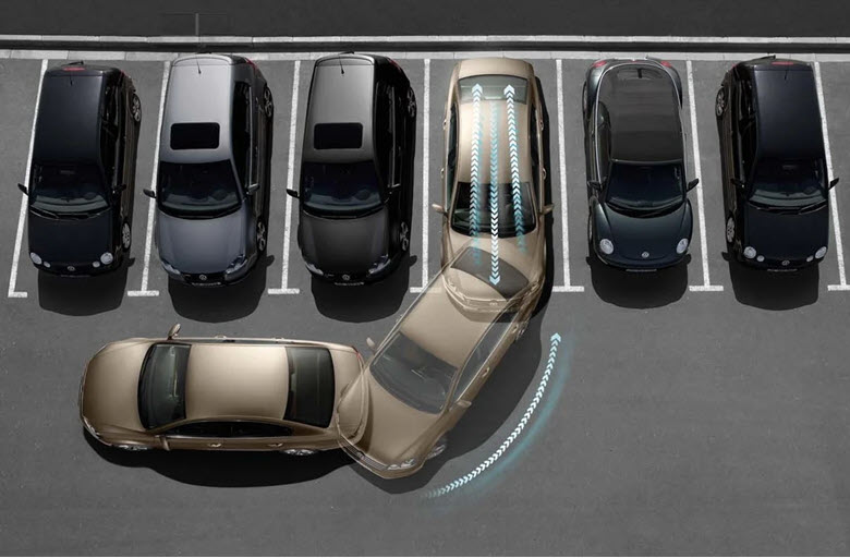 Принцип перпендикулярной парковки