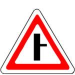 2.3.2 знак примыкание второстепенной дороги справа
