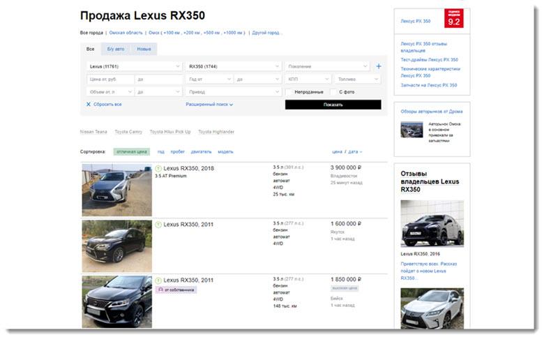 купить авто с пробегом по объявлению